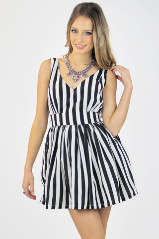 Grand illusion party dress