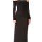 Versace long sleeve dress - black