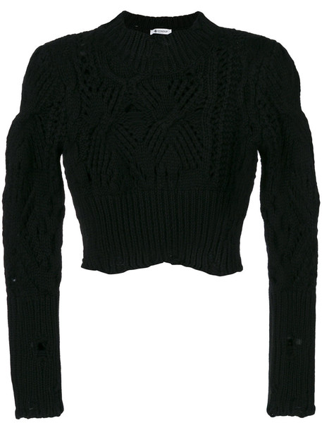 DONDUP jumper cropped jumper cropped women black sweater