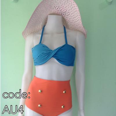 Cheeky Chic- Polka Canvas 3-Piece Bikini Set – Cheeky Chic