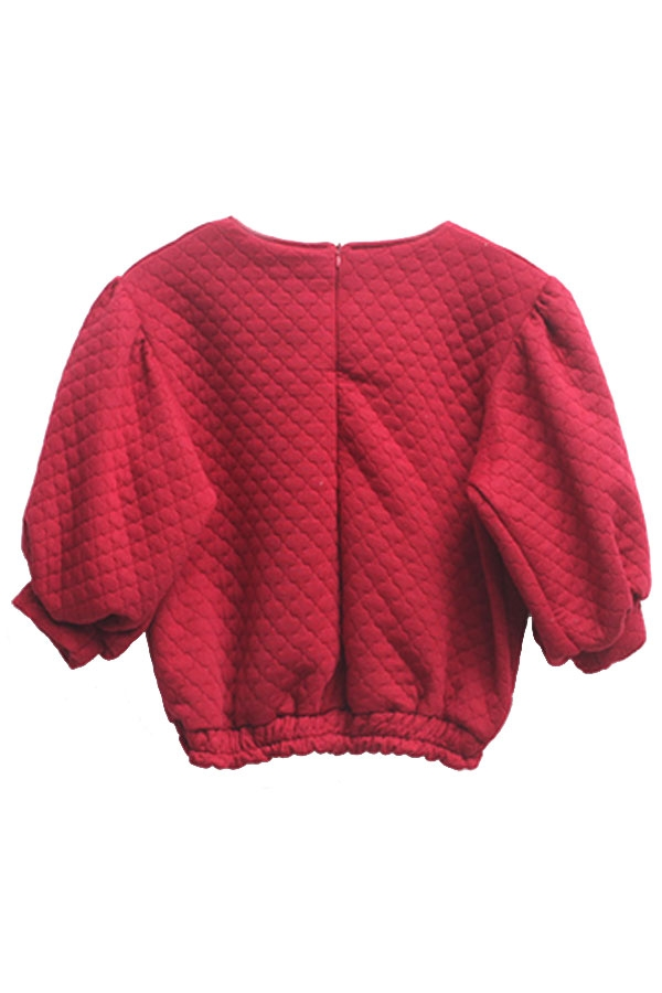Favorite Textured Crop Sweatshirt - OASAP.com