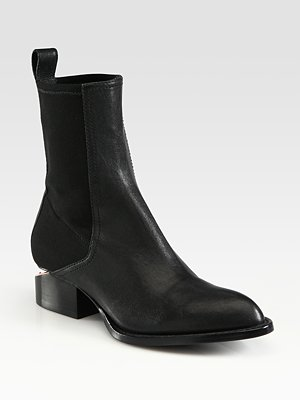 Alexander Wang - Anouck Chelsea Leather Ankle Boots - Saks.com