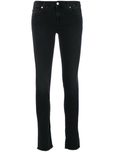 7 For All Mankind jeans skinny jeans women spandex cotton black