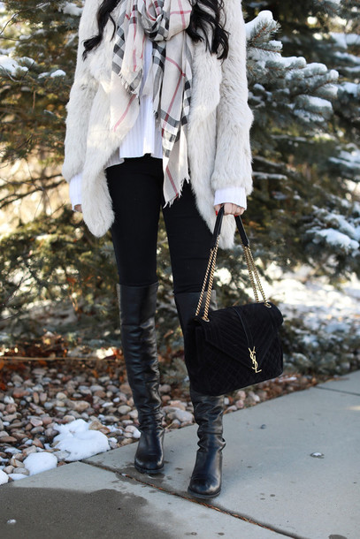 Bag Tumblr Black Boots Over The Knee Boots Thigh High