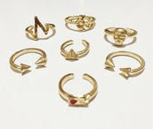 jewels,knuckle ring,ring set,ring sets