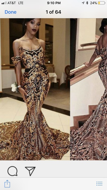 dress instagram ankara black and gold ankara gown