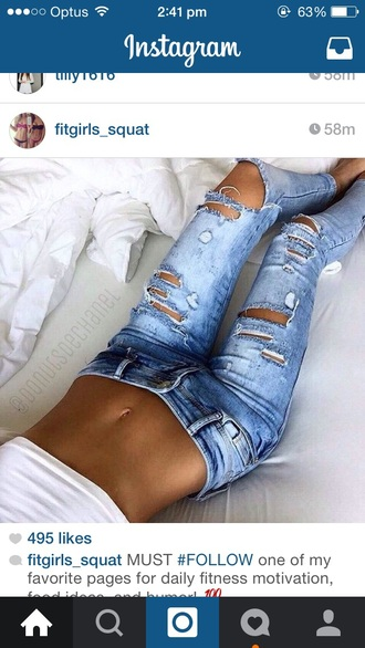 jeans denim rip jeans rip torn fashion cute jeans ripped jeans wash jeans