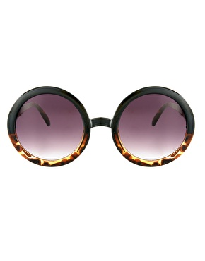 Asos tort mixed frame round sunglasses at asos