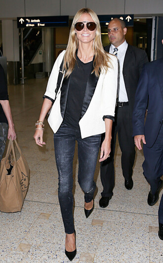 jeans heidi klum jacket shoes pumps
