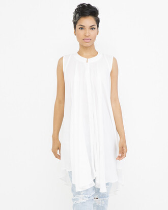 blouse white white blouse pleated pleated blouse flowy flowy blouse