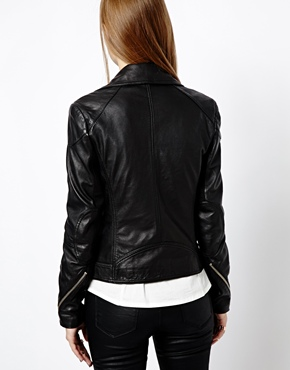 Whistles | Whistles Lita Leather Biker Jacket at ASOS