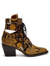 leather ankle boots,snake,ankle boots,leather,yellow,shoes