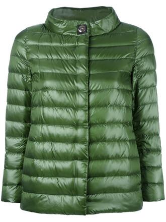 jacket high women high neck green