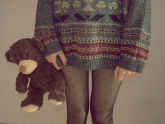 sweater weheartit norway jacket pants winter outfits oversized hipster jumper christmas fall outfits tights pattern sheer leggings black indie sweater cotton comfysweater grey sweater vintage oversized sweater knitted cardigan patterned sweater underwear leggings knit knitwear print knitted sweater printed sweater cozy