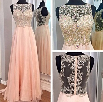 dress light pink embellished dress embroidered dress long prom dress prom dress