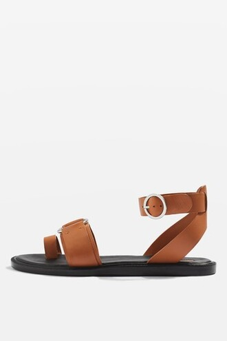 tan sandals flat sandals shoes