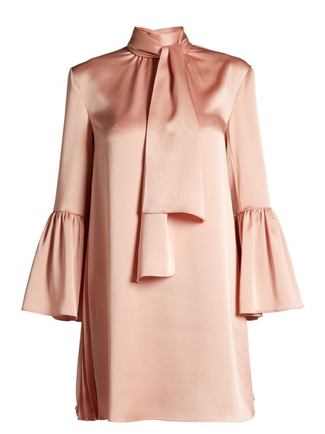 Fendi dress mini dress mini satin pink