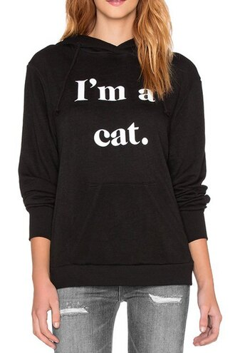 sweater black fall outfits quote on it fashion style trendy cats cool jumper zaful