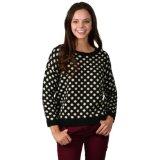 Amazon.com: polkadot sweater black