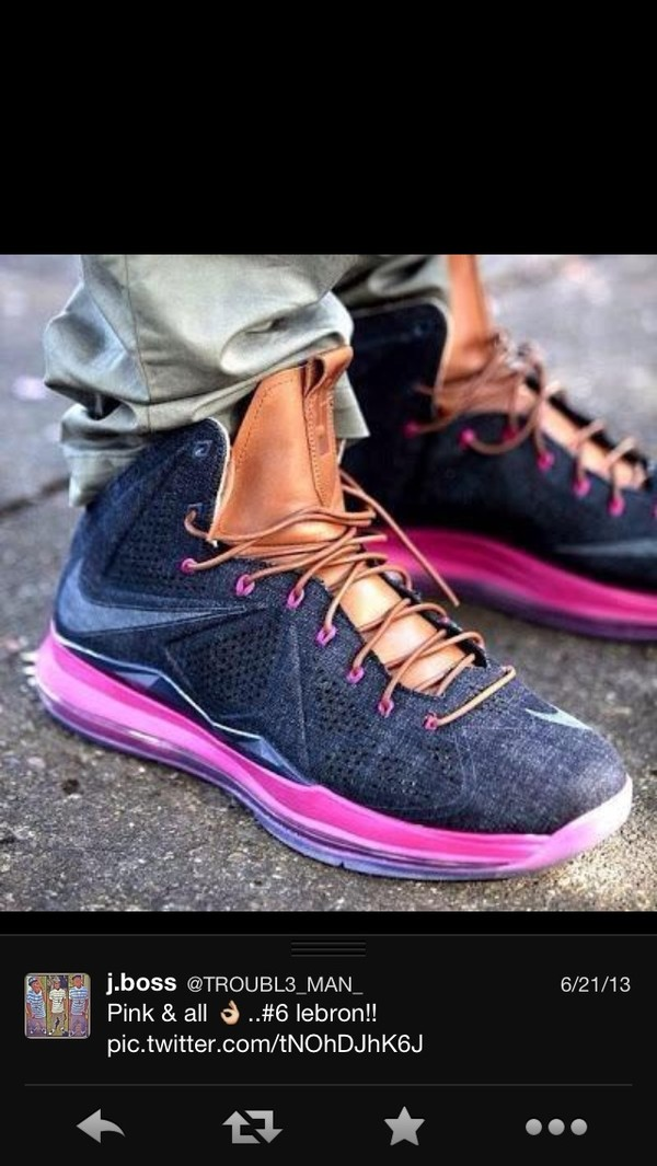 shoes lebrons denim pink casual basketball shoes nike