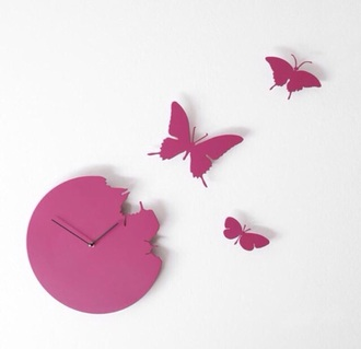 phone cover violet clocks butterfly clock
