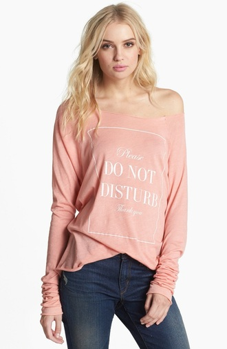 t-shirt long sleeves graphic tee statement need this!!! pink light pink