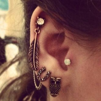 jewels earrings helix piercing