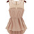 Fashion O Neck Tank Sleeveless Pink Chiffon Asymmetrical Mini Dress  on Luulla
