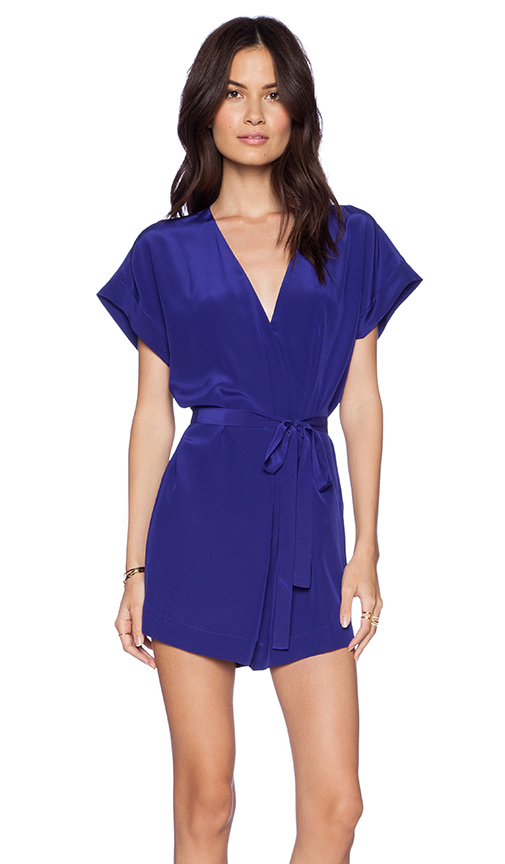 Twelfth street by cynthia vincent painter smock romper in purple from revolveclothing.com