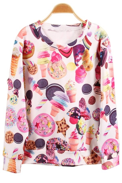 Nice Ice Cream Sweatshirt - OASAP.com