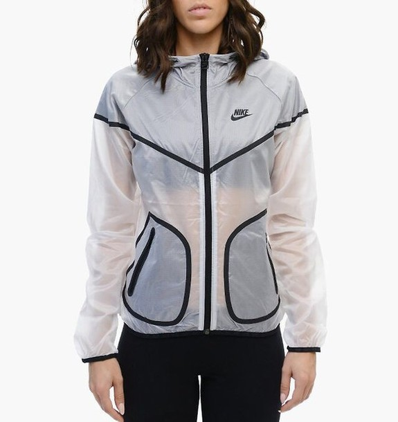 jacket nike rare swag clear black white nike sweater running summer raincoat winter outfits crop tops High waisted shorts windbreaker nike jacket