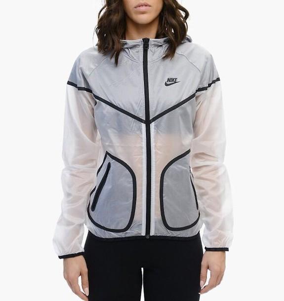 jacket, nike, transparent, rare, swag, clear, black, white ...