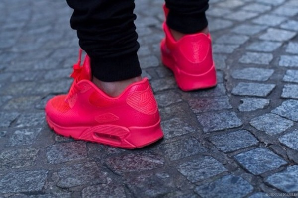 mens air max 90 hyperfuse pink red