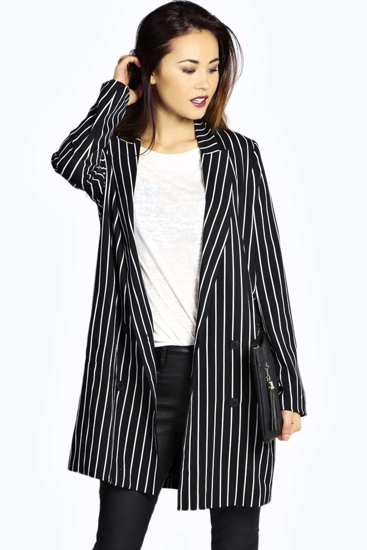 Dulce stripe longline blazer