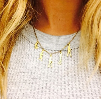 jewels evolution of man gold necklace charm necklace gold chain science necklace cailin russo