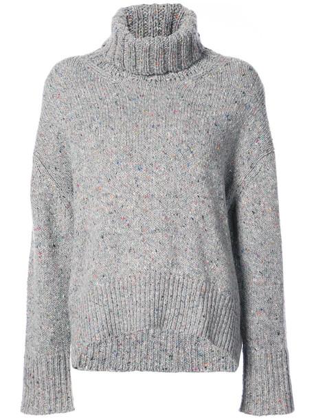 Tomorrowland jumper high women high neck wool grey sweater