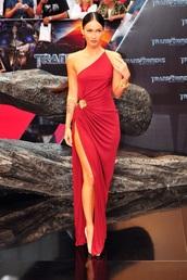 dress,red megan fox