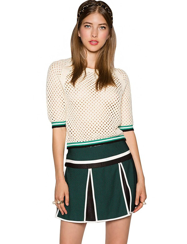 top net top varsity top sporty top knitted top summer sweater summer/spring affordable top pixie market pixie market girl