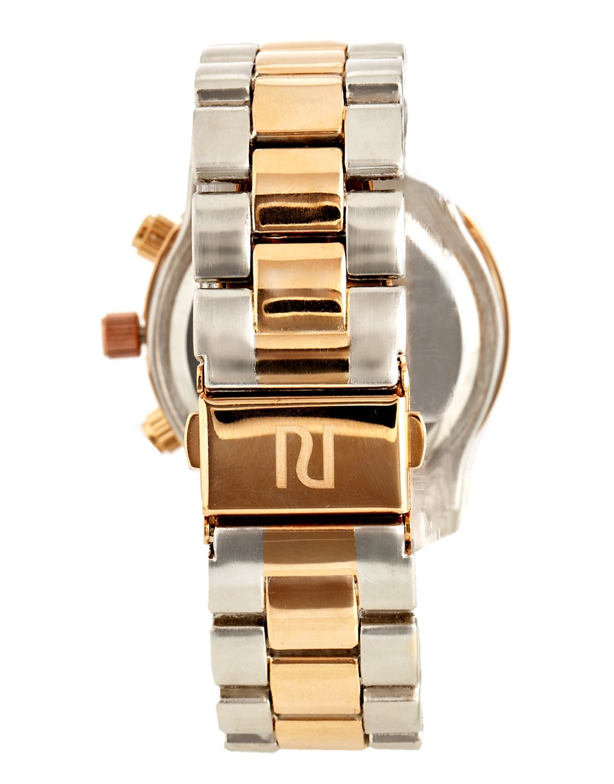River Island Mixed Metal Emily Watch at asos.com