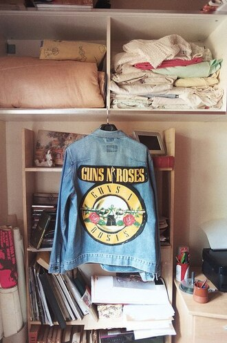 jacket vintage guns and roses lovely rock indie