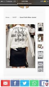 jacket,biker jacket,white jacket,leather jacket