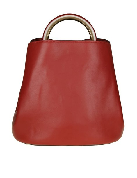 MARNI bag leather burgundy