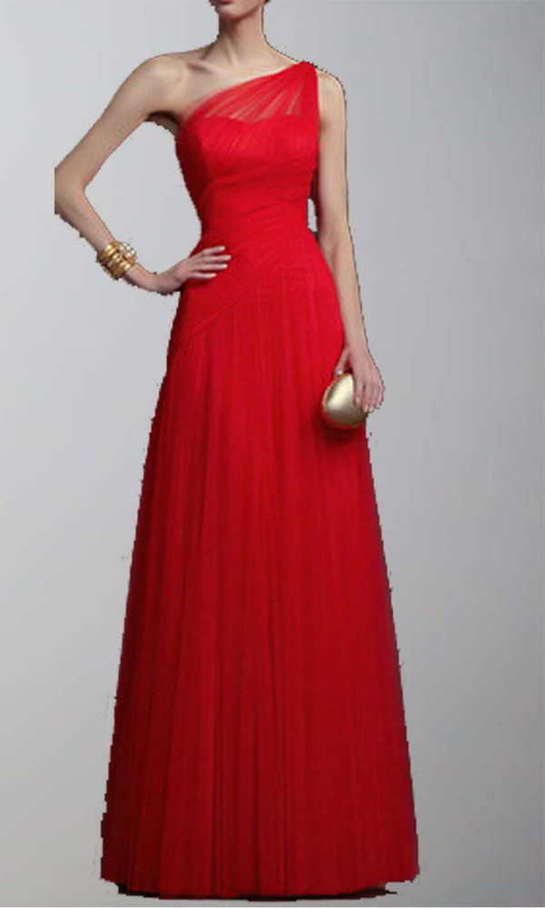 red prom dress one shoulder dresses long prom dress tulle wedding dress ruched dress goddess dress