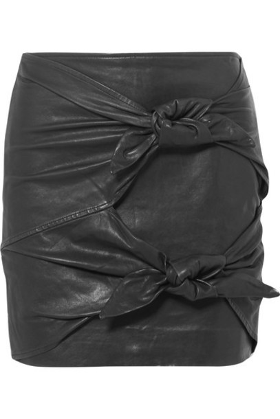 Isabel Marant etoile skirt mini skirt mini leather black