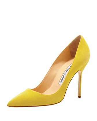 Manolo Blahnik BB Suede 115mm Pump, Leopard (Made to Order) - Bergdorf Goodman