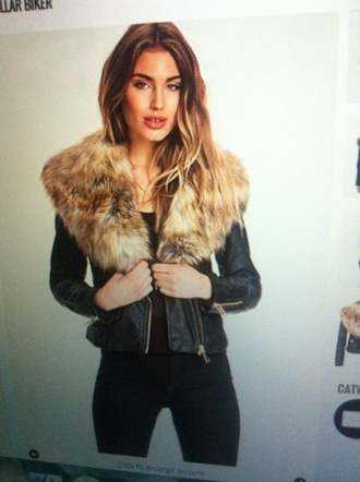 jacket fur parka faux