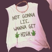 tank top,shirt,graphic crop tops,graphic tee,muscle tee,weed,weed shirt,marijuana,green