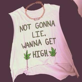 tank top shirt graphic crop tops graphic tee muscle tee weed weed shirt marijuana green