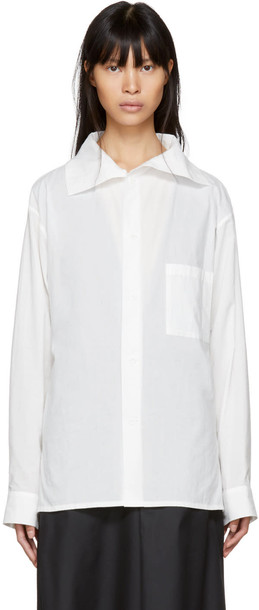Ys shirt asymmetric shirt white top