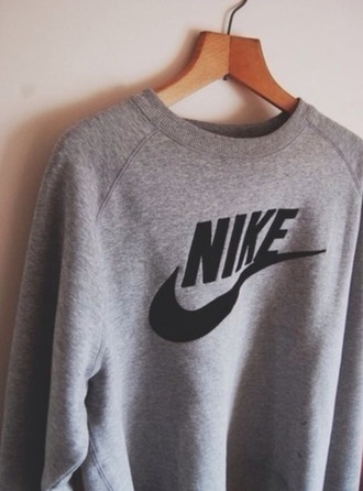 sweater nike sweatshirt black sweater grey sweater comfy comfy sweater